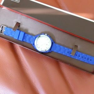 EUC Boyfriend Blue Coach Watch